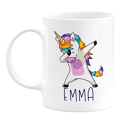 Dabbing Unicorn Coffee Mug with Name