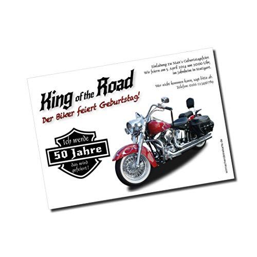 Geburtstag Einladungskarte Motorrad Biker 30 40 50 60 70 Jahre Geburtstagseinladungen - Harley Chopper Einladung für deinen Geburtstag 30er 40er 50er 60er 70er Feier Easy Rider (20)