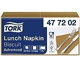 Tork 477202 Lunch/Servilletas para almuerzo / 10 paquetes x 200 unidades (2000 servilletas) / color tostado / 2 capas / 33 x 32,6 cm/Advanced