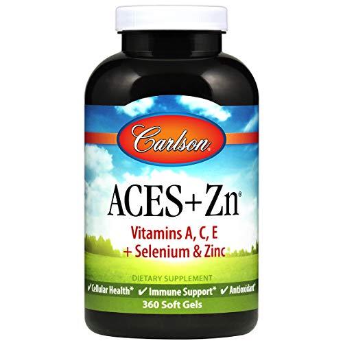 Carlson Labs ACES + Zn Vitamins A,C,E Plus Selenium And Zinc, 360 Softgels