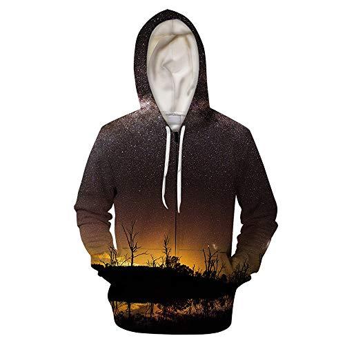 Night Sky - Camisa con cremallera impresa en 3D para parejas con capucha para hombre y mujer - Alibaba