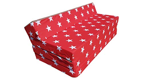 Natalia Spzoo Colchón Plegable Cama de Invitados Forma de sillón sofá de Espuma 200 x 120 cm (007)