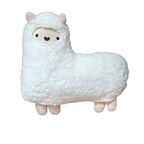 TALEEKEU Llama Peluche Animales, Capas Blancas y Verdes Plush Alpaca Juguete De Peluche Muñeca Niños Juguetes Regalos De Cumpleaños