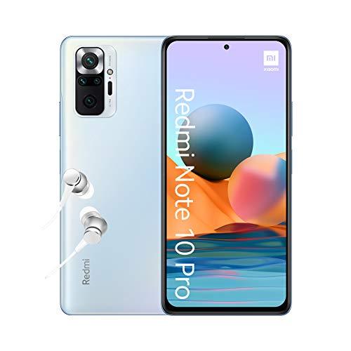 Xiaomi Redmi Note 10 Pro - Smartphone 6+64GB, 6,67' AMOLED DotDisplay de 120 Hz, Snapdragon 732G, 108 MP Cámara cuádruple, 5020 mAh, Gris Onyx (versión ES)