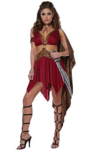 California Costumes Women's Warrior Goddess Costume, brown/red, Large