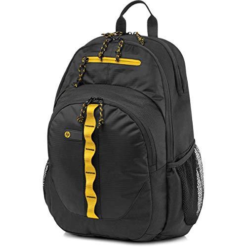 HP 15.6' Sport - Mochila para ordenador portátil, negro y amarillo