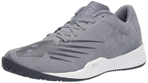 New Balance Men's 896 V3 Hard Court Tennis Shoe, Grey/Pigment, 11.5 W US