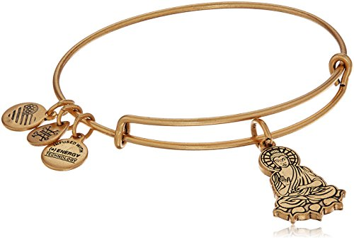 Alex and Ani Buddha II Rafaelian Gold Bangle Bracelet