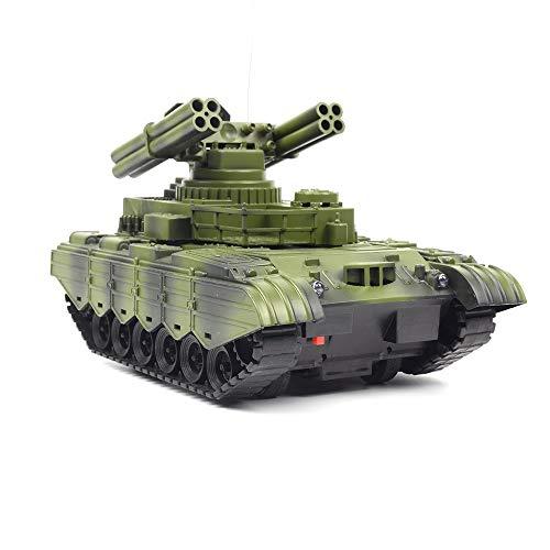DALADA Battle Panzer, Mini RC Panzer Tank, 2.4GHz RC Ferngesteuerter Kampfpanzer, 4-Kanal Modell Panzer, Kettenfahrzeug mit Schusssimulation Sound, wiederaufladbar, Kinder Spielzeug