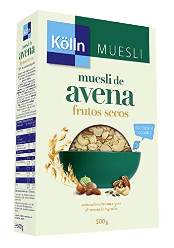 Kölln - Muesli de Avena con Frutos Secos, Cereales Integrales, Mix de Frutos Secos, Alto Contenido de Fibra - 500 g