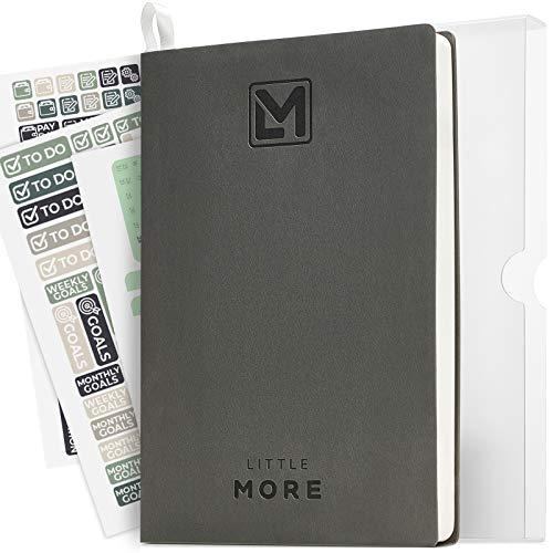 Planificador de negocios para minimalistas, sin fecha, organizador personal (5,7 x 8,5) – calendario diario para el éxito – simple y productivo diario cuaderno