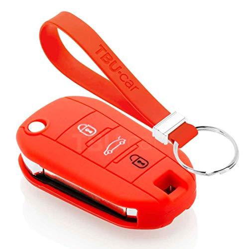 TBU car Funda Carcasa Llave Compatible con Opel - Funda de Silicona - Cover de Llave Coche - Rojo