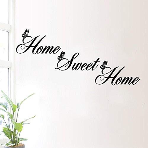 Diseño creativo DIY Etiqueta de la pared Etiqueta inglesa Decoración dulce para el hogar Etiqueta de la pared DIY Arte móvil Etiqueta de la pared A13 25x55cm