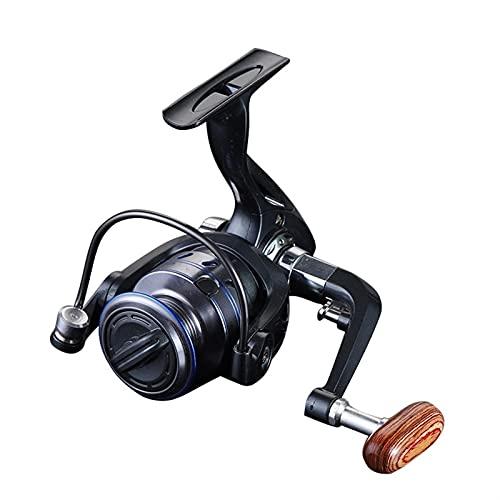 HSYSA Reel de Pesca Giratorio MH1000-6000 Treal de Metal de la Serie 5.2: 1/4.7: 1 Relación de Engranajes Carrete de Pesca Bobina de Pesca (Bearing Quantity : 14, Spool Capacity : 6000 Series)