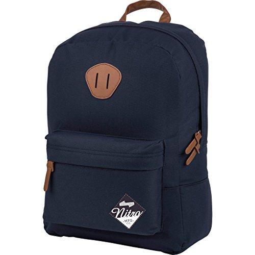 Nitro Urban Classic, Old School Daypack mit gepolstertem Laptopfach, urbaner Streetpack, Alltagsrucksack, Schulrucksack, Schoolbag, 20 L, Indigo