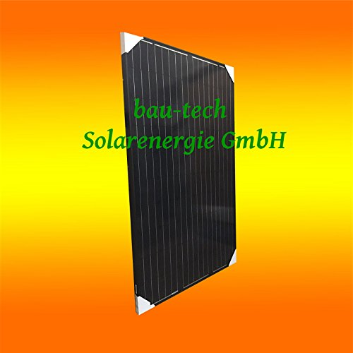 bau-tech Solarenergie 2 Stück 300Watt Monokristalline Full Black (Schwarz) Solarmodule Solarpanele GmbH