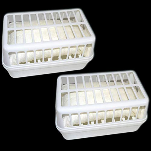 2x Luftentfeuchter Entfeuchter Box + 4x Nachfüllpackung 1,2 kg Granulat Trockner