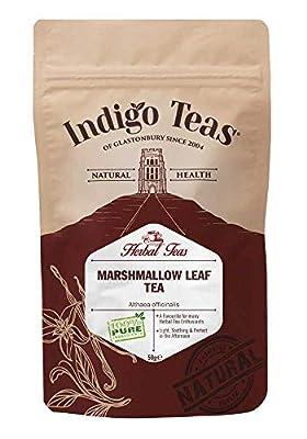 Indigo Herbs Marshmallow Leaf Tea 50g   Althaea officinalis Dried Loose Leaf Herbal Tea   Caffeine and GMO Free