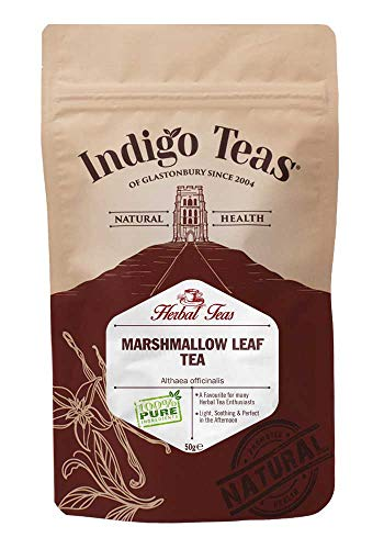 Indigo Herbs Marshmallow Leaf Tea 50g | Althaea officinalis Dried Loose Leaf Herbal Tea | Caffeine and GMO Free