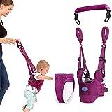 KOQIO Gehhilfe für Kleinkinder, Gehgeschirrgriff, Laufhilfe für Kleinkinder, Stehhilfe und Gehhilfe, einstellbar, atmungsaktiv,1