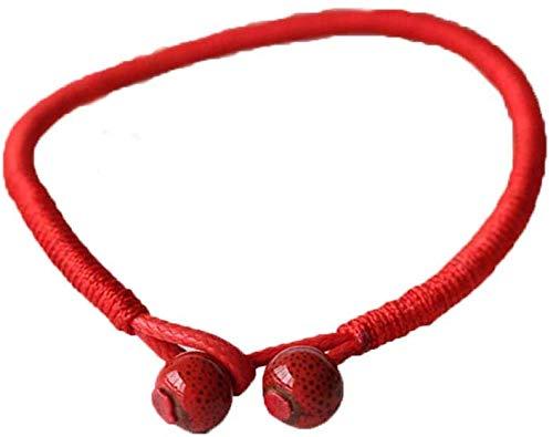 Pulsera Roja de la Suerte Tibetana Tradicional Budista Amuleto Protecc