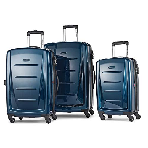 Samsonite Winfield 2 Hardside Expandable Luggage with Spinner Wheels, Deep Blue, 3-Piece Set (20/24/28)