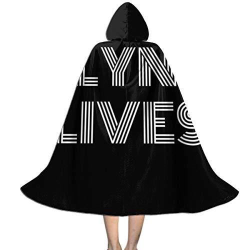 NUJSHF Flynn Lives Tron Legacy Unisex Kapuzenumhang Cape Halloween Weihnachten Party Dekoration Rolle Cosplay Kostüme