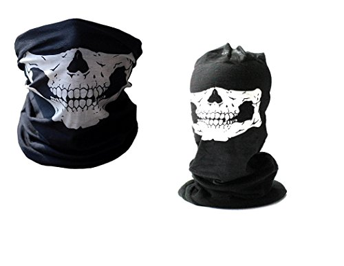 7XCollection 7XCollection Set Winter und Summer Edition facemask Loop Schlauchschal Schädel Totenkopf Fleece