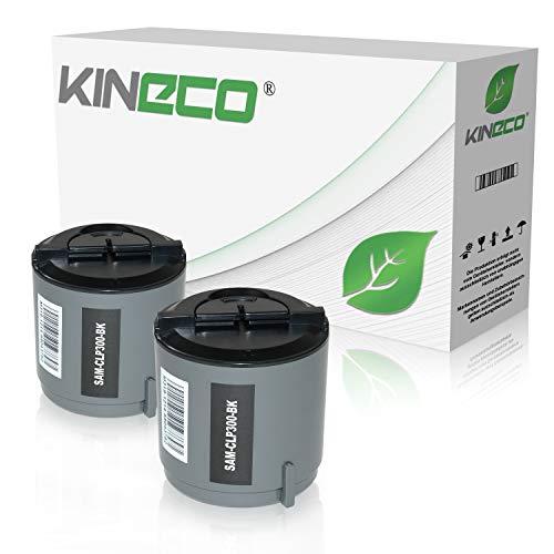 2 Toner kompatibel zu CLP-300 für Samsung CLX-2160, CLP-300 Series, CLX-2160N, CLX-3160FN - CLP-K300A/ELS - Schwarz je 2.000 Seiten