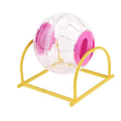 KESOTO Hamsterball Laufkugel Joggingball Hamster Laufball mit Ständer, Ø 12 cm - Rosa