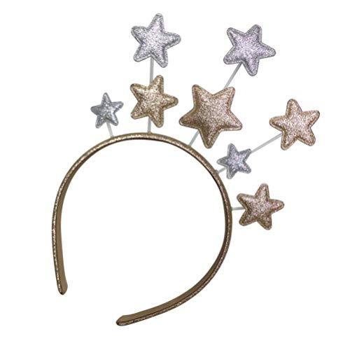 SOLUSTRE Serre-tête étoile, couronne d'étoiles, bandeau pour cheveux, anniversaire, Noël, Nouvel An, fête pour enfants, adultes