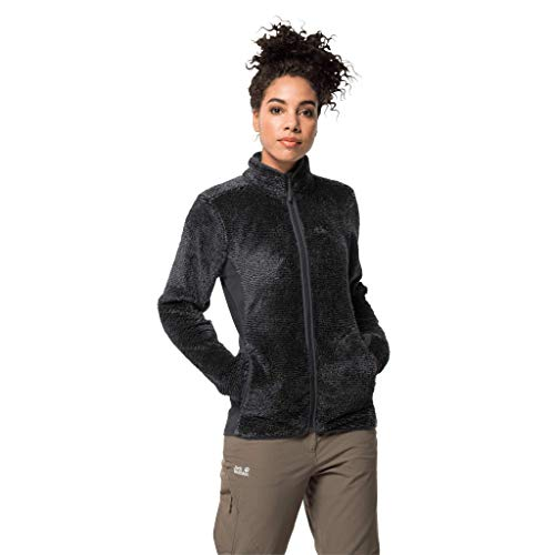 Jack Wolfskin Damen PINE LEAF JACKET Damen Fleecejacke, ebony stripes, M