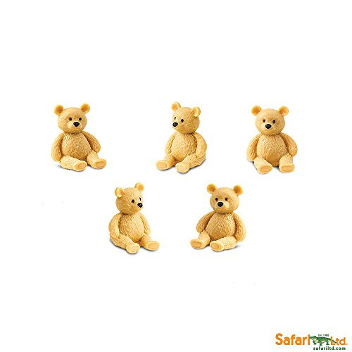 Safari Ltd. - Good Luck Minis - Glücksminis - Teddybären 5 Stück 100038