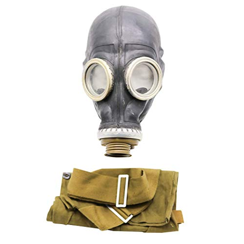 OldShop Gasmaske GP5 Set - Sowjetische Militär Gasmaske Replica Sammlerstück Set W/ Maske, Tasche, Filter - authentischer Look & Verschiedene Größen erhältlich Farbe: Schwarz | Größe: M