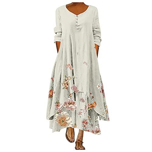 N\P Vestido de manga de mujer talla grande, blanco, M