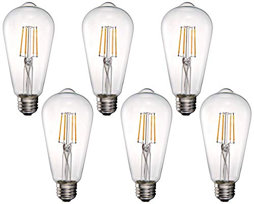 40W Equivalent Clear 4W LED Dimmable Standard ST21 6-Pack - Tesler