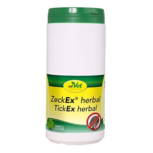 cdVet Naturprodukte ZeckEx herbal 750 g -  Hund - auf Zecken und andere Plagegeister abschreckend -unterstützen ernährungsbedingt den Hautstoffwechsel - positive Entwicklung des Hautmilieus -