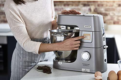 Kenwood Titanium Chef Patissier XL KWL90.034SI – Küchenmaschine mit integrierter Waage & 7 L Rührschüssel mit Wärmefunktion, 1400 Watt, inkl. 4-teiligem Patisserie-Set, silber - 6