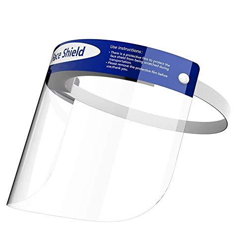 Gesichtsschutzschirm Face Shield Transparent Gesicht Schild Gesicht Schutz Visier Alle-Runde Schutz Visier Kappe Klar Sicherheit Visier 1pc