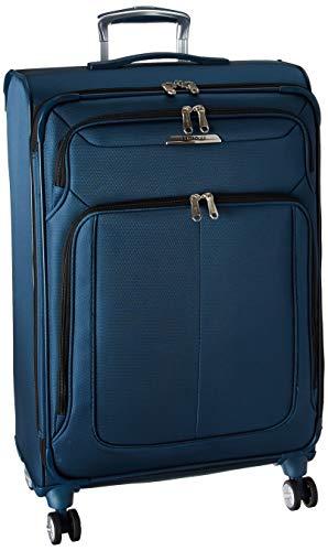 Samsonite SoLyte DLX Softside Luggage, Mediterranean Blue, Checked-Medium