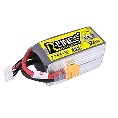 TATTU R-Line 4S LiPo Battery Pack 14.8V 1800mAh 95C High Discharge Lipo Battery for XT60 Plug FPV Drone Racing Power RC Boat Heli Airplane UAV