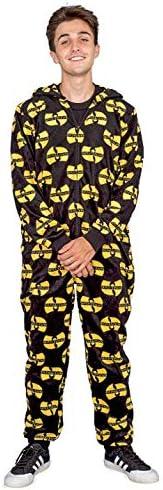 WU Tang Clan Logo Toss Adult Pajama Union Suit Black