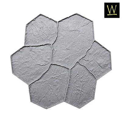 New Random Stone Concrete Stamp Single by Walttools   Decorative Stone Tile, Rotational Pattern, Sturdy Polyurethane Texturing Mat, Realistic Detail