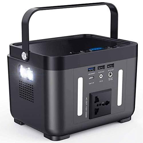 DAETNG Generadores Central eléctrica portátil, 60000mAh 222Wh Generador eléctrica con Carga inalámbrica, Linterna Brillante y lámpara de Lectura para refrigerador de Coche, TV, Drone, teléfonos