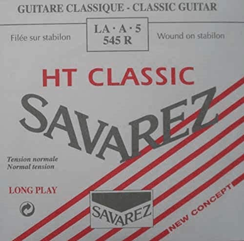 Savarez Cuerdas para Guitarra Clásica Alliance HT Classic 545R cuerda suelta La5w standard, adecuado para juego 540R, 540RH, 540CR