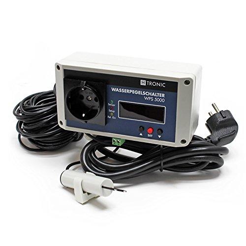 Preisvergleich Produktbild H-Tronic WPS 5000 Wasserpegelschalter mit 30m Sensorkabel 2500W Wassermelder Levelschalter