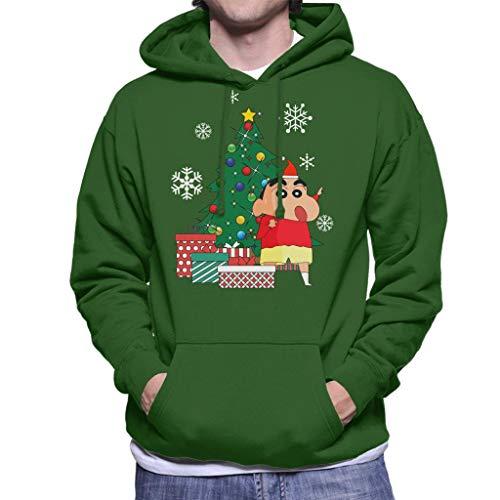 Cloud City 7 Crayon Shin Chan Around The Christmas Tree Men's Hooded Sweatshirt