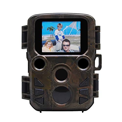 """JYCDD 1080P HD Jagdkamera No Glow IP66 Spray wasserdicht,Wildkamera Fotofalle 75° Weitwinkel Vision Und Infrarot 25FPS/20m Nachtsicht,mit Bewegungsmelder 2.0\"""" TFT LCD"""