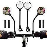 Bike Mirror 2 Pack Handlebar Rear View Mirror 360°Rotatable Shockproof Adjustable Handlebar Bicycle Convex Mirrors for Mountain Road Bike Electric Bicycle Accessories