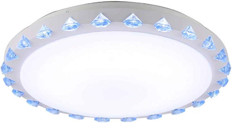 MWPO Plafonnier LED Acrylique Rond Moderne Minimaliste Chambre Salon Balcon lumière (Couleur  Bleu 40cm (30W))